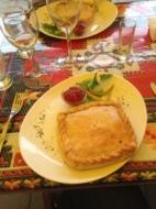 Restauranten Kybynar i Trakai er kendt for deres indbagte lammetærter.